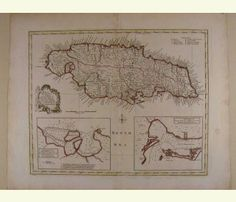 A New and Accurate Map of the Island of Jamaica 1752