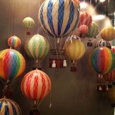 Tiny hot air balloons for a nursery???  Yes!