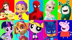 Best Learn Colors Paw Patrol Peppa Pig Disney Princess EggVideos Surpris...