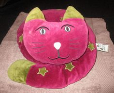 JELLYCAT CATNAP LARGE BURGUNDY CAT WITH STARS SOFT TOY