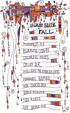 Love this Zenspiration Thanksgiving dangles, drawn in the artists art journal.