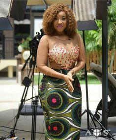 Ghanaian Actress @joselyn_dumas slaying that Pencil Ankara Skirt #ankarastyles…