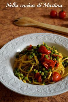 #pasta con #piselli e #pomodorini #ricetta nella cucina di Martina #ricetta #recipe #italianrecipe