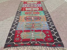 Anatolia-Turkish-Antalya-Nomads-Kilim-56-2-x-122-Area-Rug-Kelim-Carpet-Wool