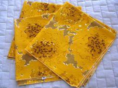 Set of 3 Vintage Vera Neumann Mod Floral Napkins by AZCindy