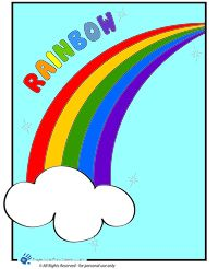 Free coloring page Color a rainbow - projectsforpreschoolers.com