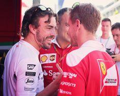 #CaptionThis Sebastian Vettel and Fernando Alonso chatting, in the Hungaroring paddock today. __________  #SebastianVettel #Vettel #Seb5 #SV5 #ForzaSeb #SebVettel #TeamVettel #FernandoAlonso #Alonso #FA14 #F1 #Formula1 #FormulaOne #Formel1 #FormulaUno #Formule1 #ScuderiaFerrari #SF16H #Ferrari #Scuderia #ForzaFerrari #RedSeason #PrancingHorse #McLarenF1 #F12016#HungarianGP #Hungaroring