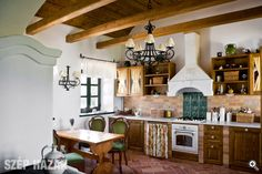 Rustic Kitchen, Country Kitchen, Vintage Kitchen, Old World Kitchens, Oak Frame House, Simply Home, Brown Kitchens, Weekend House, Cottage Homes