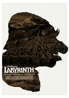 Hoggle Labyrinth Movie Poster. #Poster #Print #Labyrinth #Film #Henson #JimHenson #Bowie