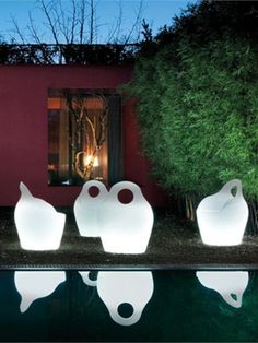 Armchair with #light with armrests BABA' LIGHT by DOMITALIA | #design Andrea Radice & Folco Orlandini design studio #outdoor #garden #pool
