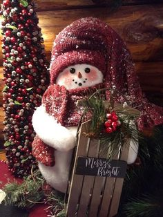 Christmas Snowman, Christmas Wreaths, Christmas Decorations, Christmas Ornaments, Holiday Decor, Snowman Wreath, Sled, Merry And Bright, My Etsy Shop