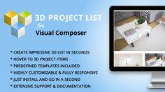 3D Project List Addon for Visual Composer #3DAnimation, #3DProject, #3DProjectList, #AnimatedColumn, #HoverColumn, #ProjectList, #Responsive, #Themeofwp, #VcAddon, #VcElement, #VisualComposer, #VisualComposerGallery, #VisualComposerVideo, #WordpressGallery https://goo.gl/jwweSn