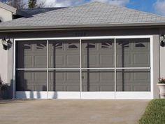Garage Screen Doors, Sliding Garage Screen Doors - Garage Aire ...