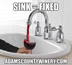 funny wine sink
