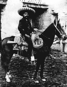The famed Mexican revolutionary Emiliano Zapata, photographed in March of 1914, as he fought against the government of Victoriano Huerta. (Fototeca Nacional del INAH)