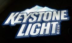 Keystone light opti neon sign