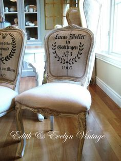 Close up of Dining Room Chairs | Edith & Evelyn Vintage Interiors #vintage #french decor #chair