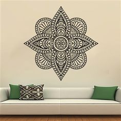 Mandala Yoga Oum Om Sign Wall Decal Vinyl Sticker Wall Decor Home Interior Design Art Murals MN283
