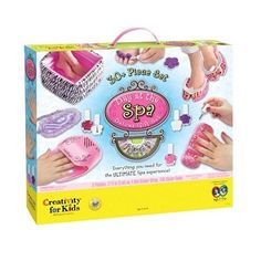 Day at the Spa Deluxe Gift Set - Pamper your little diva from head to toe with this deluxe spa-experience gift set. The ultimate girlie girl present, it has everything she will need to create amazing manicures and perfect pedicures! Ages: 9+