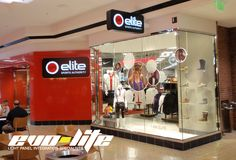 Evo-Lite helped integrated different types of LumiSheet LED light panels into a new Sports Authority Elite store.