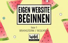 Eigen website beginnen – Brainstorm/Research