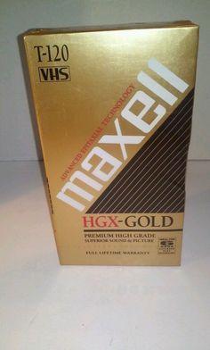 Maxell HGX-Gold Premium High Grade T-120 VHS Tape #Maxell