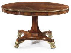 A Regency gilt-metal mounted rosewood circular center table Circa 1815