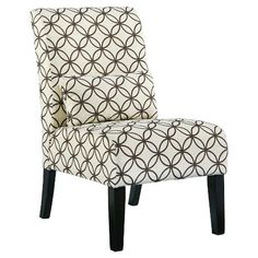 We love how the Annora accent chair puts the accent on fresh fabrics and clean-lined form. Chic and streamlined, it's just enough furniture to complete your space. Curved back cushion and lumbar pillow blend style and comfort.  Signature Design by Ashley is a registered trademark of Ashley Furniture Industries, Inc.