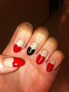 Valentine's Day nails!!