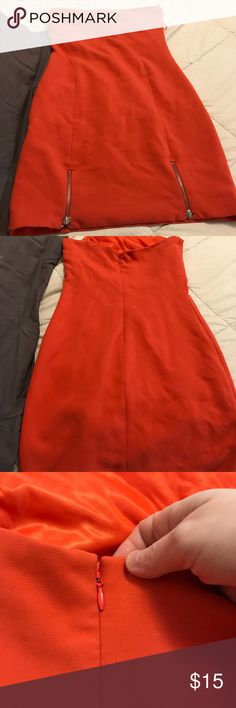 Zara Terez Collection strapless dress Zipper in the front bottom sides. Just doesn't fit me, but it's a great going out dress! 👗 pet free/smoke free home 🏠 Zara Terez Dresses Strapless