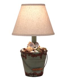 Take a look at the Mini Shell Bucket Table Lamp on #zulily today!