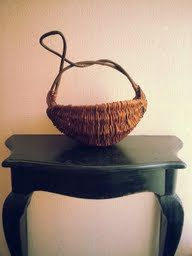 Unique Woven Basket with Twisted Branch/Vine by VintageReaper, $30.00 #vintage #basket #unique #art #homedecor #diy #supply #woven #contemporary #woodland #spiritual