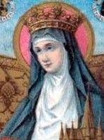 St. Begga of Landen died in 693 AD. On the death of her husband, Ansegisel, she became a nun, founded seven churches, and built a convent at Andenne, Belgium. Her 42x great granddaughter moved to the Philippines in 1929. #kasaysayan
