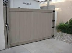 9' wide x 6' high weathered cedar gate