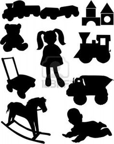 toys silhouette downloads for labels