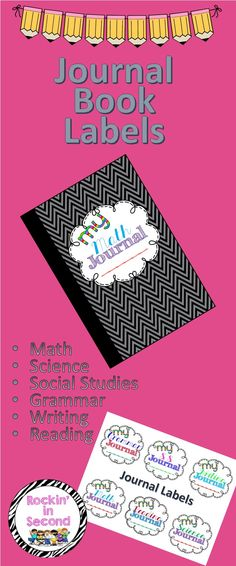 Jazz up your composition books with these adorable Journal Labels. 6 subjects included: Math Writing Grammar Science Social Studies Reading Print and glue on any notebook you want. Interactive Writing Notebook, Math Writing, Interactive Notebooks, Journal Labels, Book Labels, Special Education Classroom, School Classroom, Classroom Organization, Classroom Management