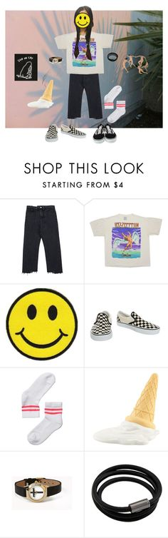 """😜 *"" by youdamangeoanne ❤ liked on Polyvore featuring Chicnova Fashion, Vans, Monki, Forever 21 and NOVICA"