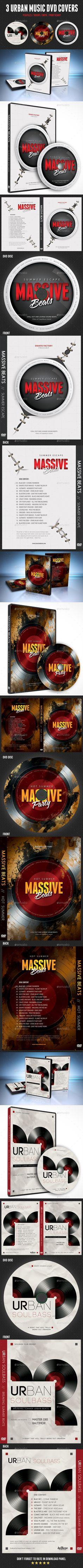 3 Urban Music DVD Covers Template PSD Bundle