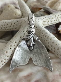 Romance of the Sea Large Mermaid tail Pendant, Sterling Silver by NotSoFlatware on Etsy https://www.etsy.com/listing/224276157/romance-of-the-sea-large-mermaid-tail