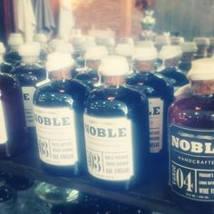 Fancy vinegars and syrups at the #OldFaithfulShop. #Gastown #vancouvershopping