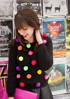 Pom pom sweater - DIY