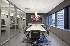 Liquid Elements, Smooth offers a sophisticated, yet minimalistic chic to this NYC conference room