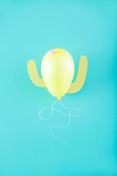 DIY Cacti Balloons -