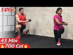 45 Min Weight Training Workout + Abs: Home Strength Training Full Body Dumbbell Workout Women & Men - YouTube