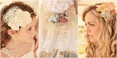Adorable flower hair bands. These are from the cutest wedding in the whole world.