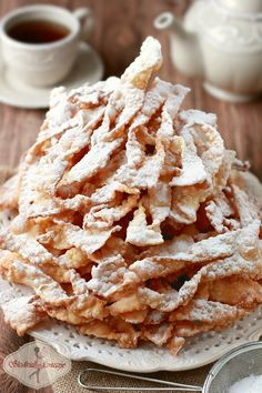 Babcine faworki przepis / brushwood / angel wings polish recipe - My WordPress Website Polish Desserts, Polish Recipes, Just Desserts, Dessert Recipes, Polish Food, Café Chocolate, Sweet Pastries, Sweets Cake, Russian Recipes