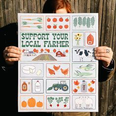 Support Your Local Farmer Art Print by Hannah Rosengren on Scoutmob Image Deco, Poster Prints, Art Prints, Posters, Creative Industries, Heart Art, Design Development, Farmer, Sewing Projects