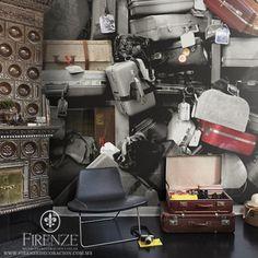#Firenze #tapiz #decoracion #maletas #muebles #hogar #home, #decoration, #furniture, #avantgarde, #bedroom, #tapestry, #suitcase