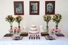 Resultado de imagem para decoração batismo menina