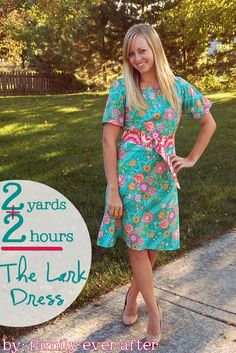 2 Yards of fabric, & 2 Hours making time Dress Tutorial. Sounds perfect!